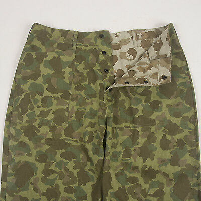 """WWII Marine Corps """"Frogskin"""" Camo Trousers, size 34"""