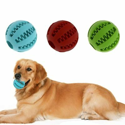 Pet Dog Chew Toy Food Dispenser Ball Bite-Resistant Natural Rubber Clean Teeth