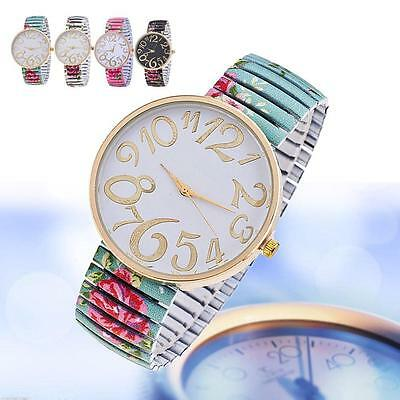 fashion women watches For Geneva stretch band flower dial floral printed hot DB