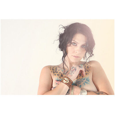 Danielle Colby-Cushing Posing Showing Beautiful Tats 8 x 10 Inch Photo