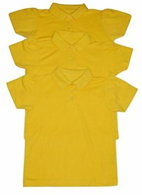 Girls' 3-Pack Yellow/Gold Polo Tops Shirts School Uniform