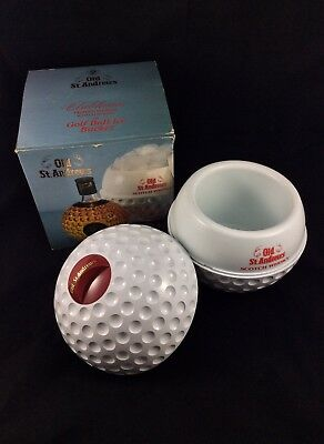 Old St. Andrews Scotch Whisky Bottle Vintage Golf Ball Ice Bucket