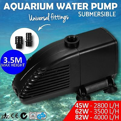 Submersible Aquarium Water Pump Fish Tank Pond 45W 62W 82W Fountain Marine Aqua