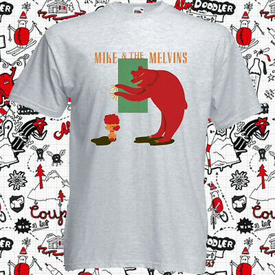 179e72850424 New Mike and The Melvins Three Men and Baby Men s Grey T-Shirt Size S