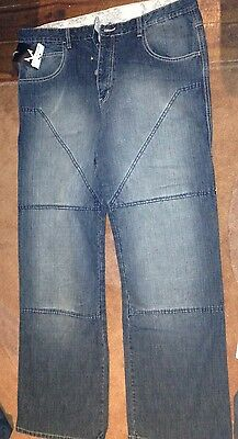 Hornee Jeans Bruised Wash SA-M3 Motorcycle Jeans Size 36