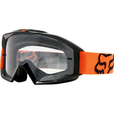 Fox Racing NEW 2018 Mx Main Orange Kids Youth Clear Motocross Dirt Bike Goggles