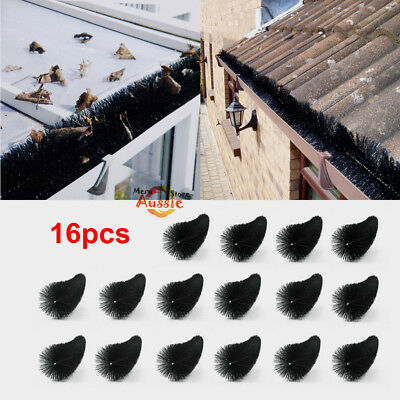16PCS 100mm x 16M Hedgehog Gutter Guard Brush Roof Protector Filter Leaf Twigs