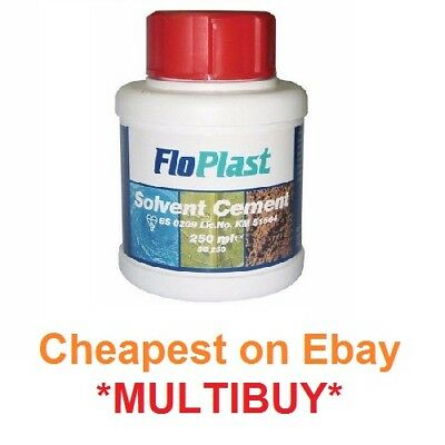FloPlast solvent cement 250ml with brush solvent weld glue solvent weld cement