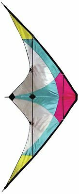 Stunt Kite - 120 x 60 cm Dual Line Kite - High Flying Kite with multi coloure...