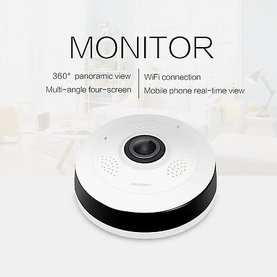 Mini 360 Degree Wireless IP Camera 1080P HD Fisheye Night Vision Wifi Panoramic