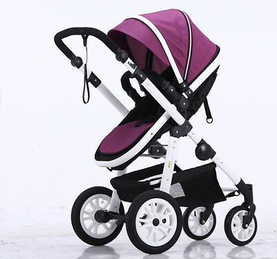 Baby Pram Stroller 4in1 Child Foldable Pushchair Travel Reversible Seat Bassinet
