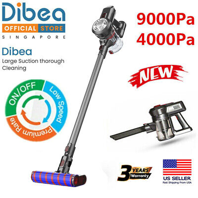 Dibea Cordless 2in1 Upright Cleane Stick Vacuum Cleaner Powerful +Cleaning Brush
