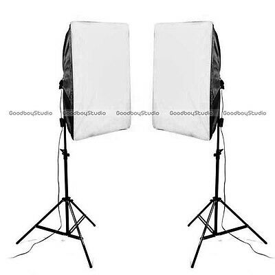 Studio E27 50x70cm Folding Easy Softbox Light Stand Continuous Lighting Kit