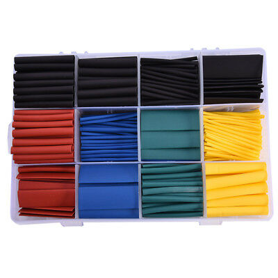 530 Pcs 2:1 Heat Shrink Tubing Tube Sleeving Wrap Cable Wire 5 Color 8 Sizes