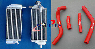 Aluminum Radiator + RED Hose For Yamaha YZ250F YZF250 YZ 250 F 2014 2015 2016 14