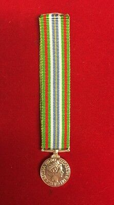 "Ebola Miniature Medal Operation Gritlock With 6"" Ribbon"
