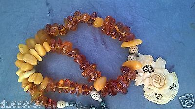 Antique Diffrent Natural Amber Nacklace