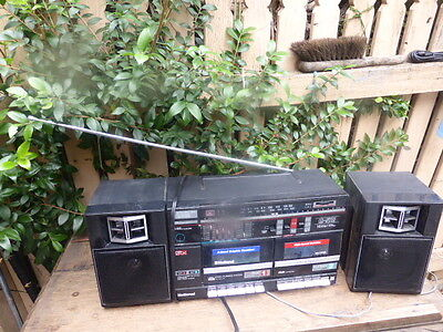 Vintage National RX-CW26 Boombox AM/FM Radio Cassette Player