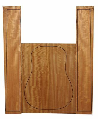 Flamed Queensland Maple Guitar Back & Sides Set #13 - Australian Guitar Timber