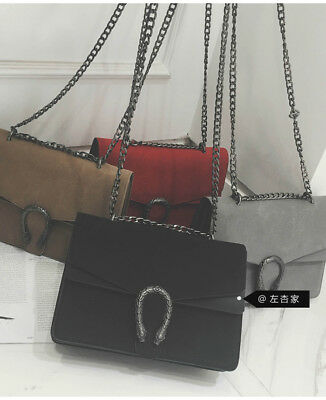 Fashion Womens Velvet PU Leather Chain Shouler Bags Luxury Crossbody Bags UK