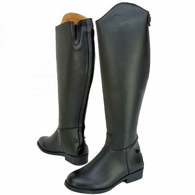 Saxon Equi Leather Tall Boot Laced Field Show Dressage Horse Riding Boots Zip