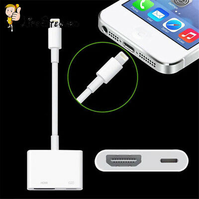 Lightning to Digital AV TV HDMI Cable Adapter For iphone Ipad air Connector New