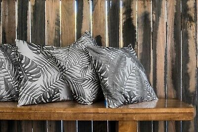 Black White Tropical Palm Leaf Cushion Summer Indoor / Outdoor 4 Styles Pillow