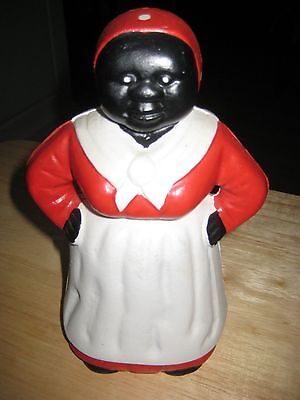 """Vintage Collectible Cast Iron Aunt Jemima Bank-approximately 7 1/4"""" tall"""