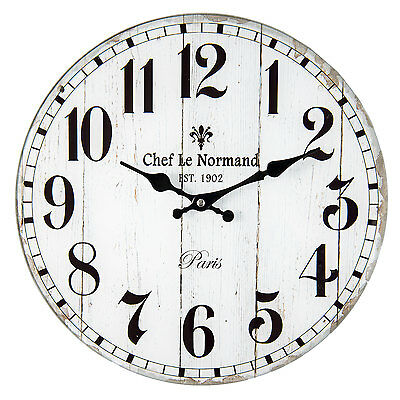 Vintage Wall clock Nostalgic Clock Country house style CHEF LE NORMAND PARIS