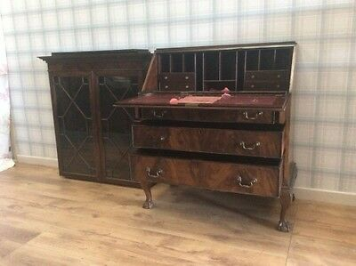 Antique Writing desk and display cabinet