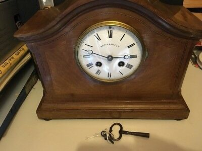 Walker & Hall  Japy Freres French Movement  Mantle Clock EDWARDIAN!