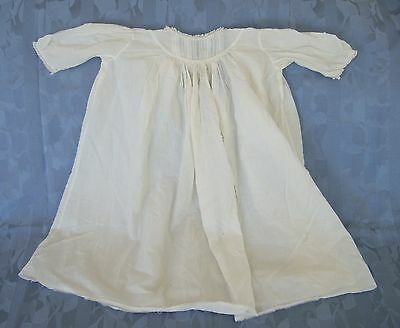 Antique Fine Cotton Lawn Babies' Gown Dress Robe Embroidery, Pintucks, Lace - #1