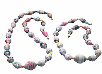 Fair Trade Recycled Paper Necklaces.