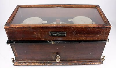 Antique Henry Troemner Apothecary Ryders Wood Pharmacy Balance Scale