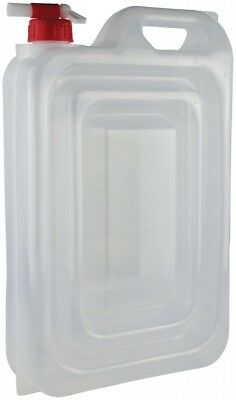 PE-LD 15 Litre Camping Expandable Water Carrier White - Leak Proof and Built in