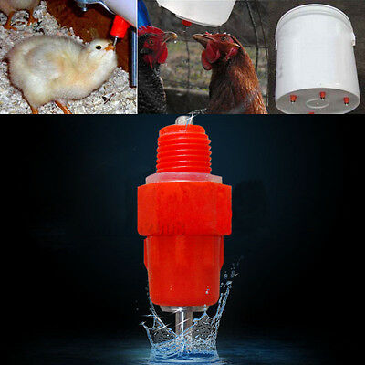 7 Pcs Chicken Waterer Screw in Poultry Nipples Drinker Bird Drink Water Chook