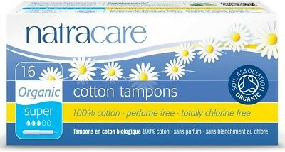 Natracare Organic Cotton Tampons, Super with Applicator 16 ea (Pack of 2)