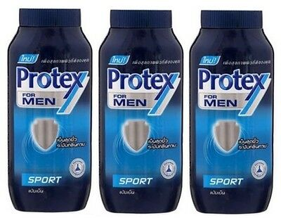 3x140g Prickly Heat Beauty PROTEX FOR MEN SPORT Cool Talcum Body Powder Cooling