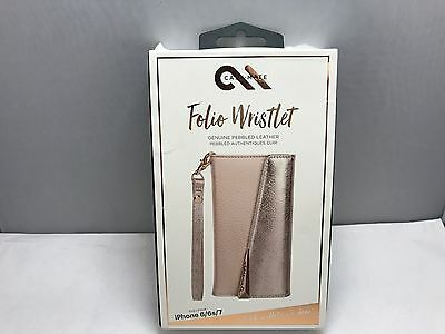 brand new 0f819 9a396 CASE-MATE FOLIO LEATHER Wristlet wallet Case for iPhone 8 7 6S 4.7 Rose  Gold NEW