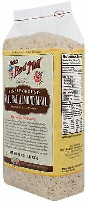 Bob's Red Mill Gluten Free Super-Fine Natural Almond Flour, 16 oz (Pack of 6)