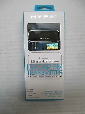 Hype 3.5mm In Car FM Transmitter,   IPhone, Android , Smartphones,Tablets