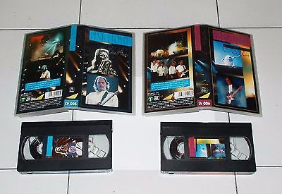 2 Vhs PINK FLOYD On the run Volume uno e due 1 - 2 OTTIMO 1994 Italy Vol Live