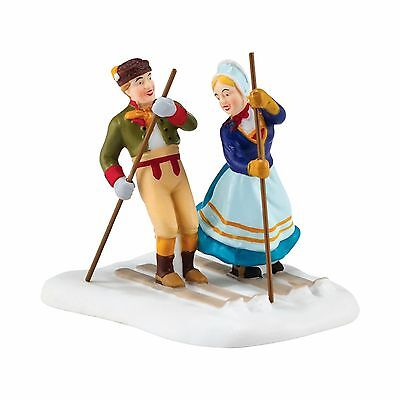 Dept 56 Alpine Village - LOVE ON THE SLOPES - NEW 2016 FREE SHIPPING
