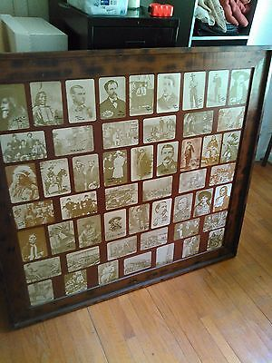 Large Cypress Framed Pictures Collection of Wild West Heroes