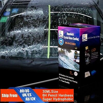 Car Crystal Glass Coating Rain Water Repellent Nano Hydrophobic Anti Scratch