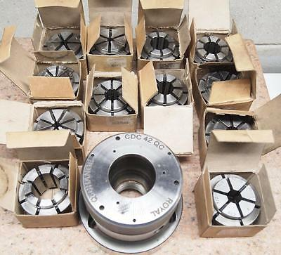 Royal Crawford CDC 42 QC A2-5 CNC Collet Chuck with 12 Collets
