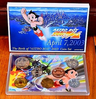 """2003 Birth of """"Astro Boy"""" Japanese Mint Coin Set"""