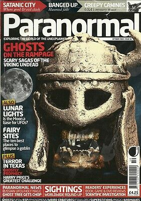 PARANORMAL magazine 40 October 2009 VIKING SAGA Moon UFO fairy sites GHOSTS jail