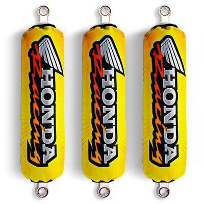 Yellow Racing Shock Covers Honda Fourtrax Rancher 350 420 Recon 250 (Set 3) NEW