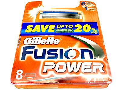 Gillette Fusion Power Blades 40 (5x8pack) Genuine (BNIB)